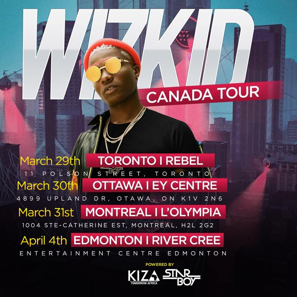 Wizkid Returns To Canada After 7 Years With Vancouver Set To